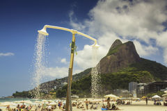 Shower on the Beach of Ipanema in Rio de Janeiro Royalty Free Stock Images