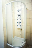 Shower cabin. In a bathroom corner stock photo