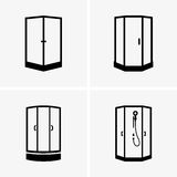 Shower cabins Royalty Free Stock Photos