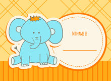 Shower card with elephant Royalty Free Stock Image