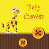 Shower card with  giraffe Stock Image