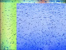 Shower colored windows condensation Royalty Free Stock Image