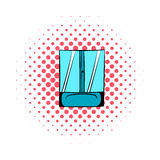 Shower comics icon. On a white background Royalty Free Stock Photography