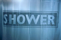 Shower curtain Royalty Free Stock Photos