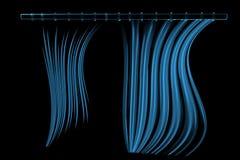Shower curtain 3D xray blue. Transparent Stock Image