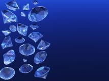 Shower of diamonds Stock Photos