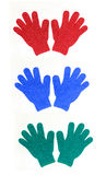 Shower Exfoliating Gloves. Three sets of shower exfoliating Gloves Stock Image