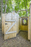 Shower Facilities at a Camping Site   Stock Photo