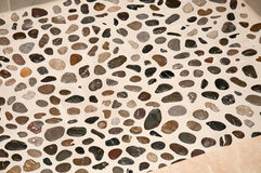 Shower Floor River Stone Royalty Free Stock Images