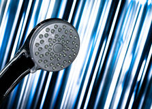Shower and a futuristic background Stock Photography