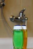 Shower gel bottles  Stock Photo