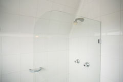 Shower with glass divide Stock Photography