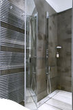 Shower with glass door Stock Photos