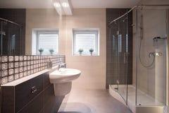 Shower with glass door Stock Photos