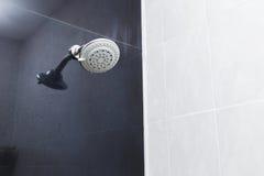 Shower head in bathroom Stock Photos