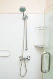 Shower head in bathroom. Modern shower head in bathroom Stock Photography