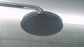 Shower head. Cleaning, backdrop. The shower head in bathroom stock photos
