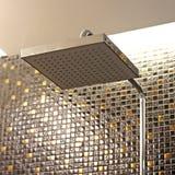 Shower head in bathroom Stock Photo