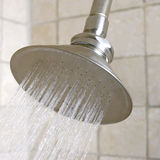 Shower head in modern bathroom. Royalty Free Stock Image