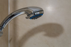 Shower Head and shadow Stock Photo