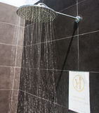 Shower head. At swimming pool stock images