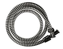 Shower hose isolated. On white background with Clipping Path stock photo
