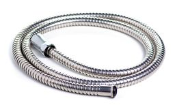 Shower hose silver. On a white background isolation royalty free stock photos