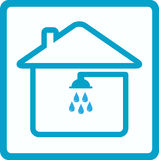 Shower in house symbol of bathroom Stock Photos