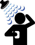 Shower icon Stock Images