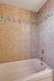 Shower of medium sized bathroom. Stock Photo