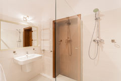 Shower in modern bathroom Stock Photography