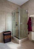 Shower in modern bathroom Royalty Free Stock Photography