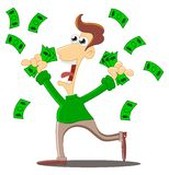 A shower of money Stock Photography