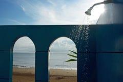 Shower on Pranburi beach Stock Photos
