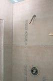 Shower Renovation - Shower Pan Royalty Free Stock Image
