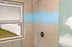 Shower Renovation - Water Proofing. New Shower renovation - Water Proofing Stock Images