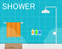 Shower room,bathroom. Shower room,bathroom flat Stock Images