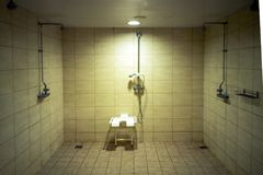 Shower room for disabled people stock photography