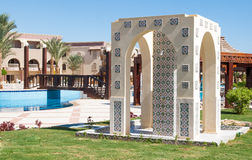 Shower room in a Moroccan style on a resort in Egypt.  royalty free stock images