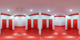 Shower room with shower cabins Royalty Free Stock Image