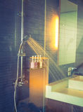 Shower while running( Filtered image processed vintage ef Royalty Free Stock Photos