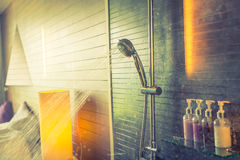 Shower while running  ( Filtered image processed vintage ef Stock Photo