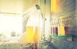 Shower while running ( Filtered image processed vintage ef Stock Photos