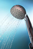 Shower with running water 2 Stock Photo