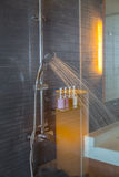Shower while running water Stock Image