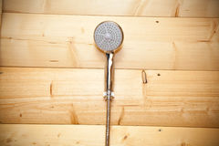 Shower in the sauna Royalty Free Stock Images