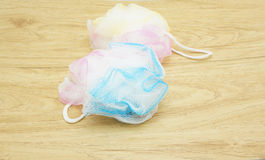 Shower scrubber Royalty Free Stock Images