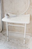 Shower seat Royalty Free Stock Photo