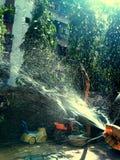 Shower Sprinkler Art stock image