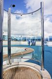 Shower on sundeck of the cruise ship Royalty Free Stock Image